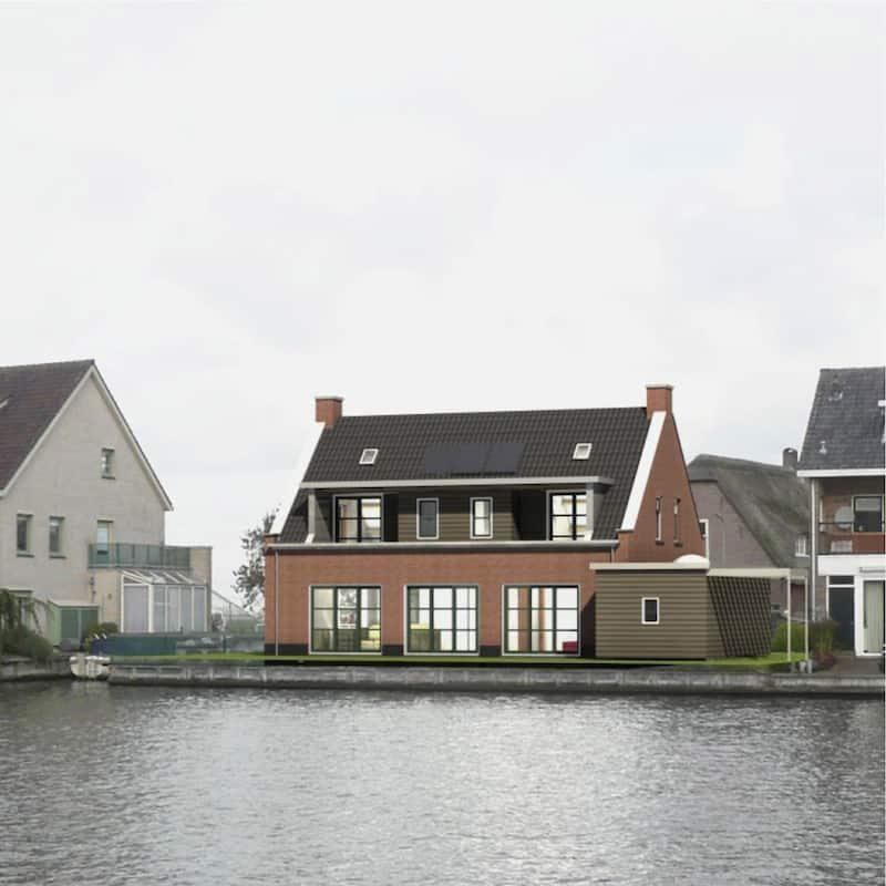 Stramien-woonhuis Koudekerk nieuw Rijnzijde