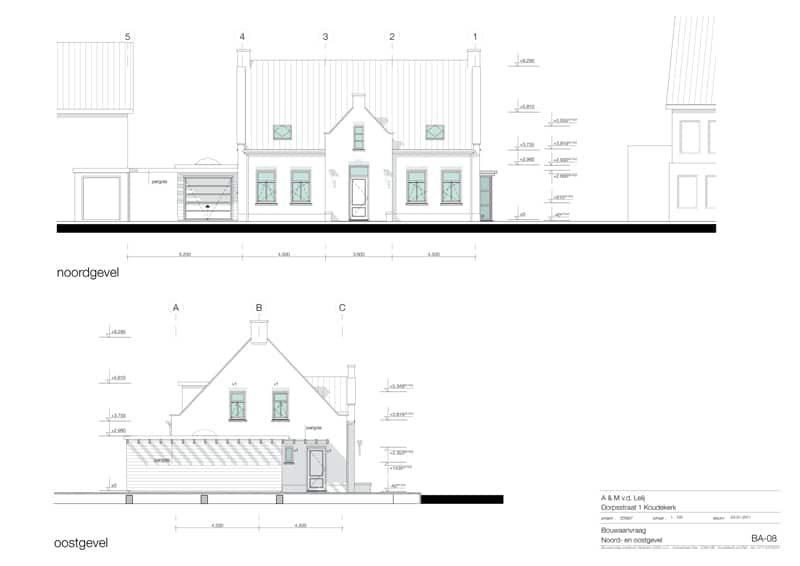Stramien-woonhuis-Koudekerk-voor-en-zijgevel