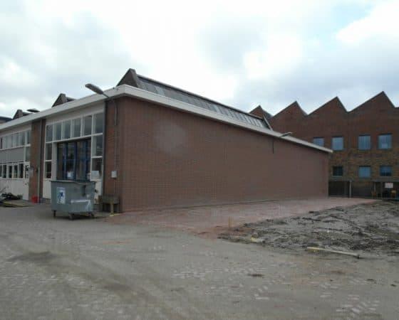 Deelsloop werkplaats, gebouw-C, op voormalig Nuonterrein in Leiden